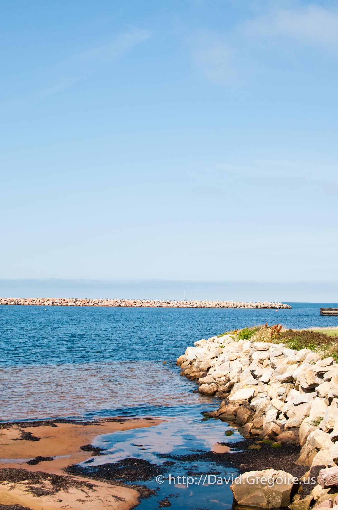 Photo vue du site de la côte à l\'Étang-du-Nord
