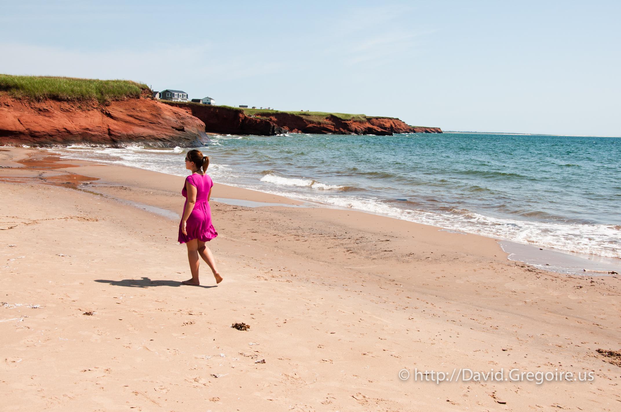 Photo d'une minuscule plage de Havre-Aubert