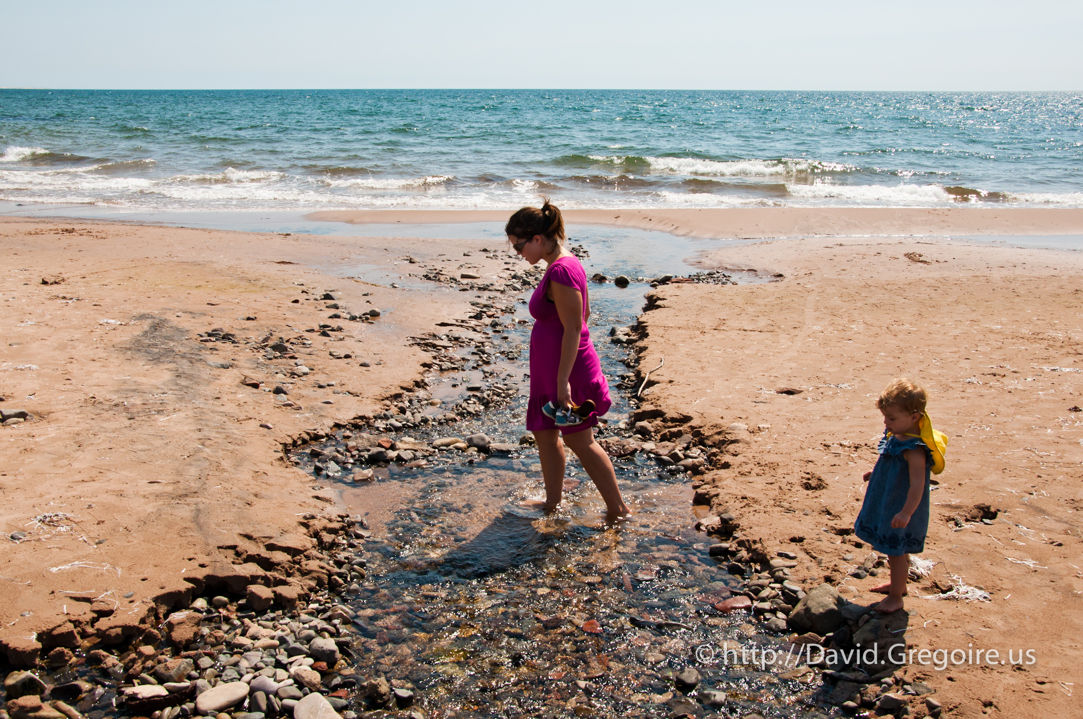 Photo d\'une minuscule plage de Havre-Aubert