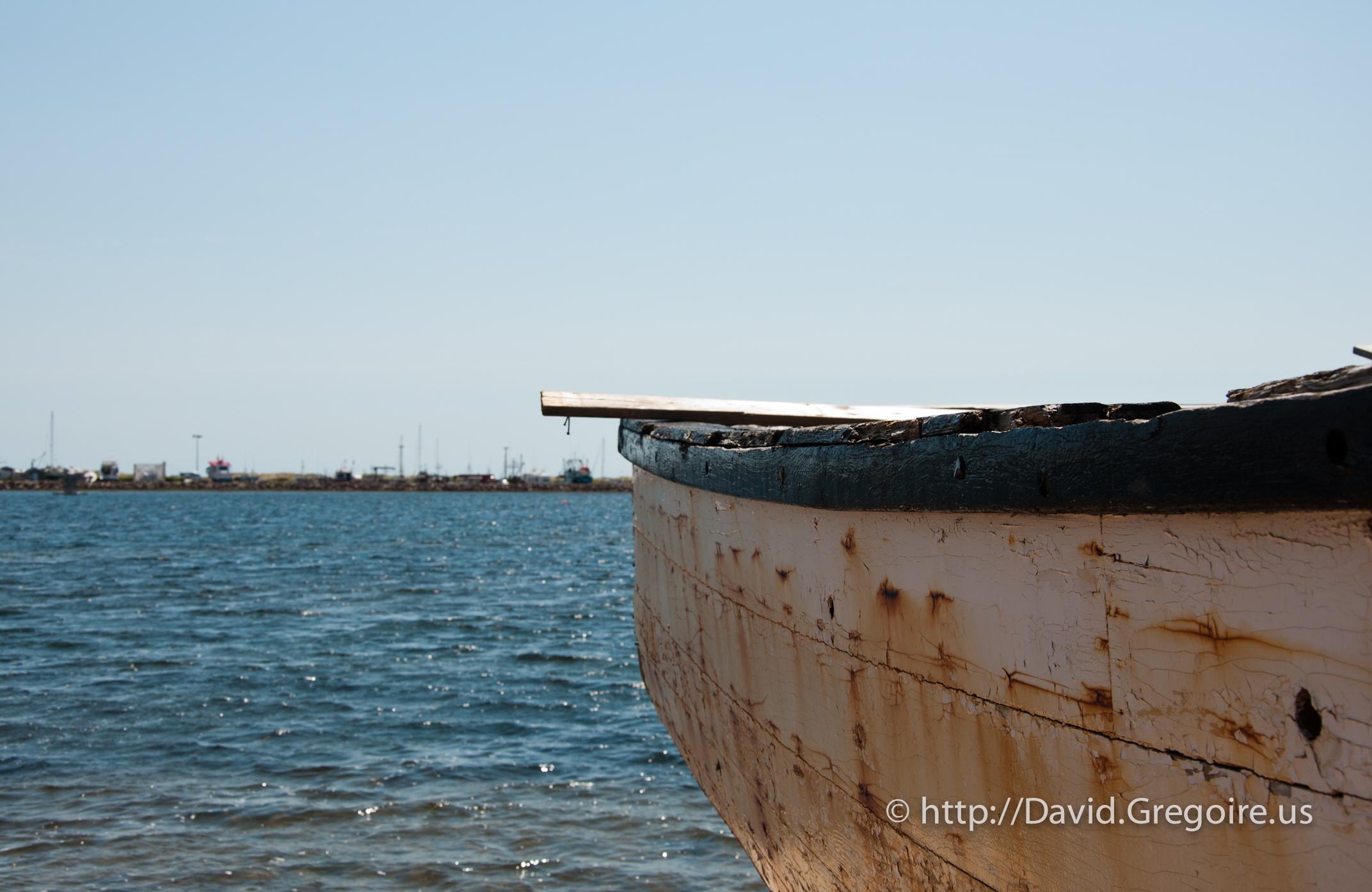 Photo d\'un vieux canot à Havre-Aubert
