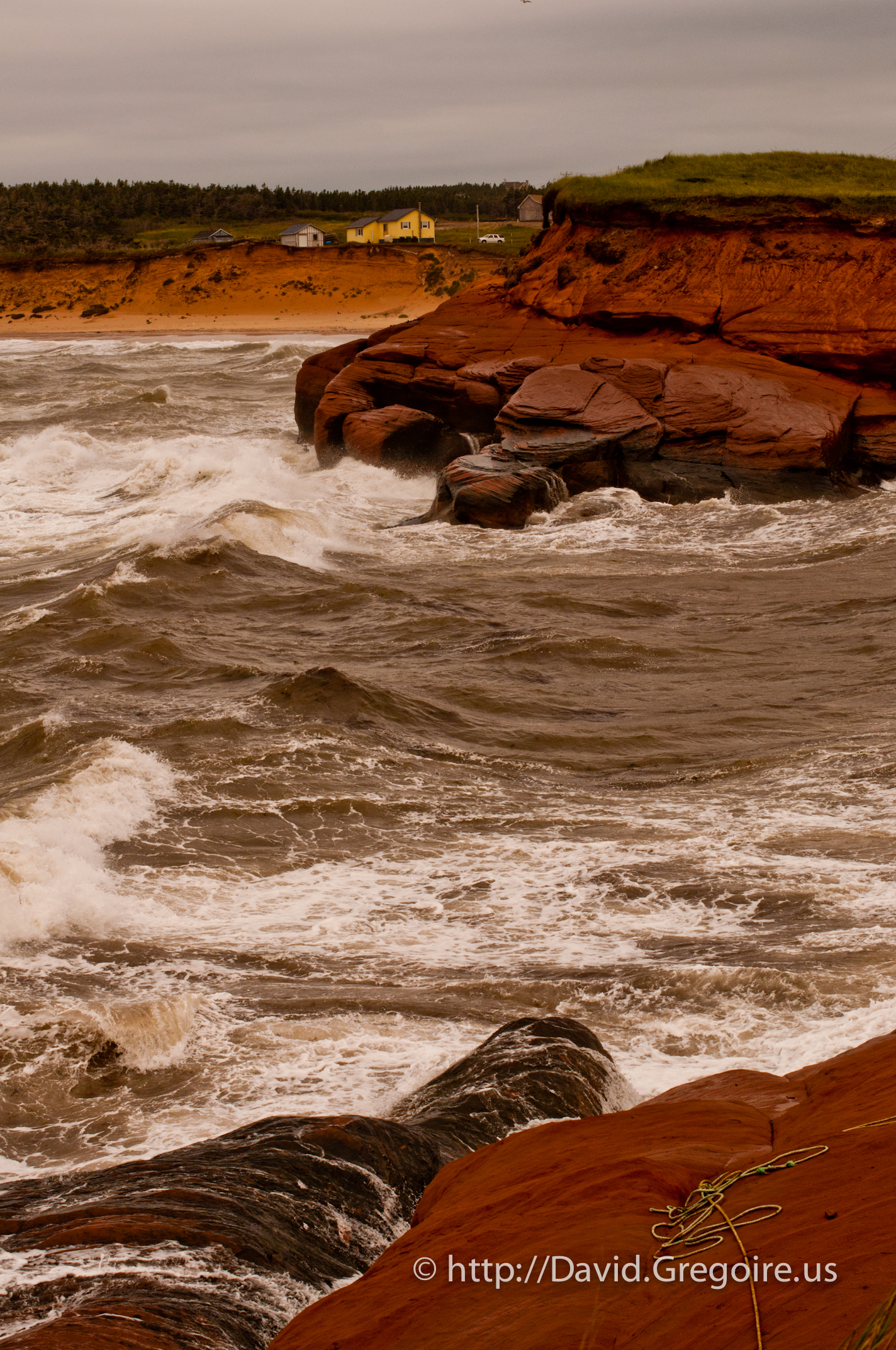 Photo d\'une falaise à la Grande-Entrée