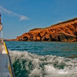 Photo d\'une falaise à Fatima en bateau