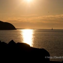 Coucher de soleil à Havre-Aubert